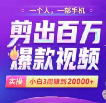 小白易上手的手机剪辑赚钱课,抓住短视频风口月赚2万+【完结】